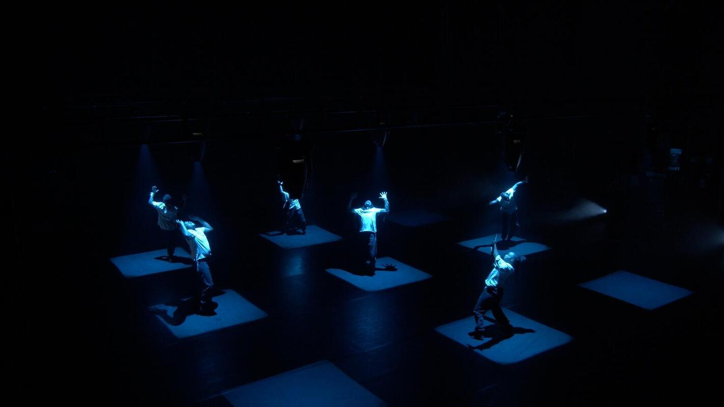 Photograph from Shades of Blue - lighting design by Ryan Stafford
