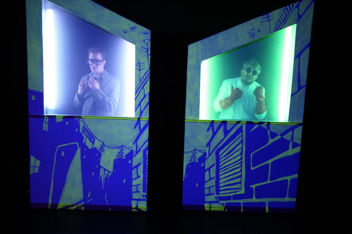 Photograph from I AM BEAST - lighting design by Claire Childs