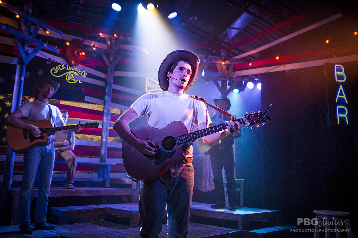 Photograph from Now & Then - lighting design by Joseph Ed Thomas