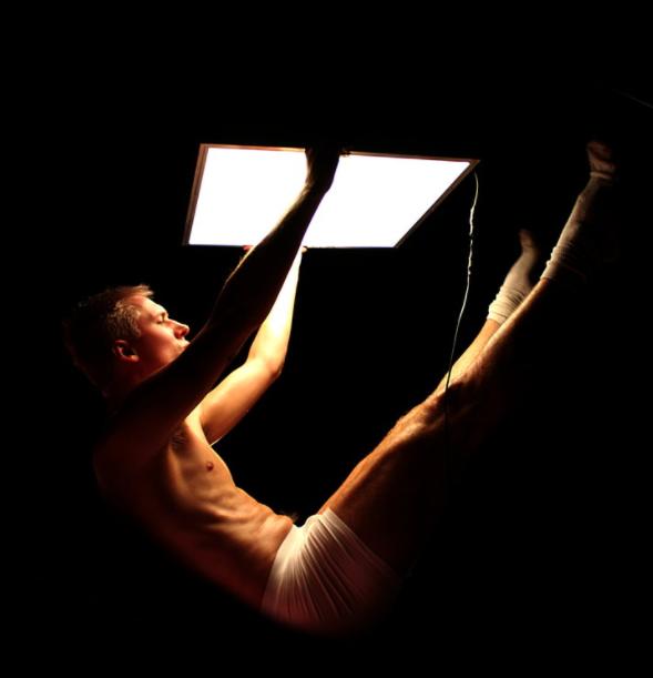 Photograph from HARD C*CK - lighting design by Joshua Gadsby