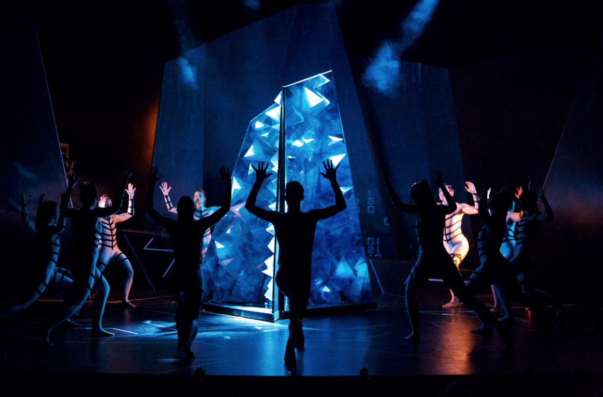 Photograph from District 12 - lighting design by Sophie Bailey