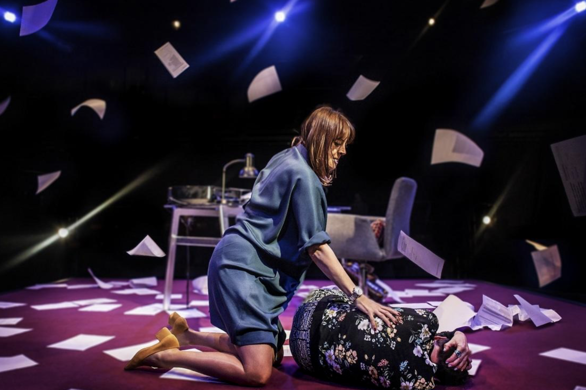 Photograph from Thick As Thieves - lighting design by Azusa Ono