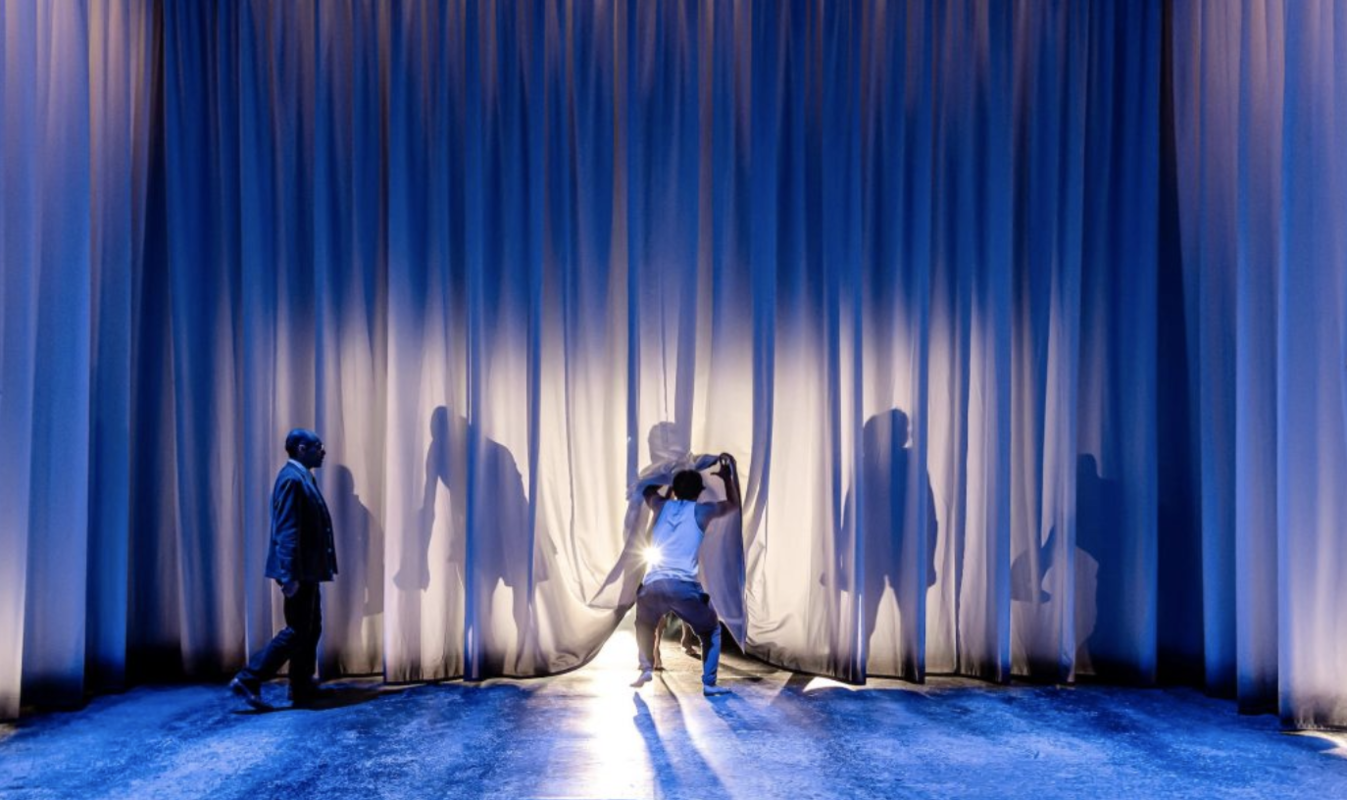 Photograph from Equus - lighting design by Jessica Hung Han Yun