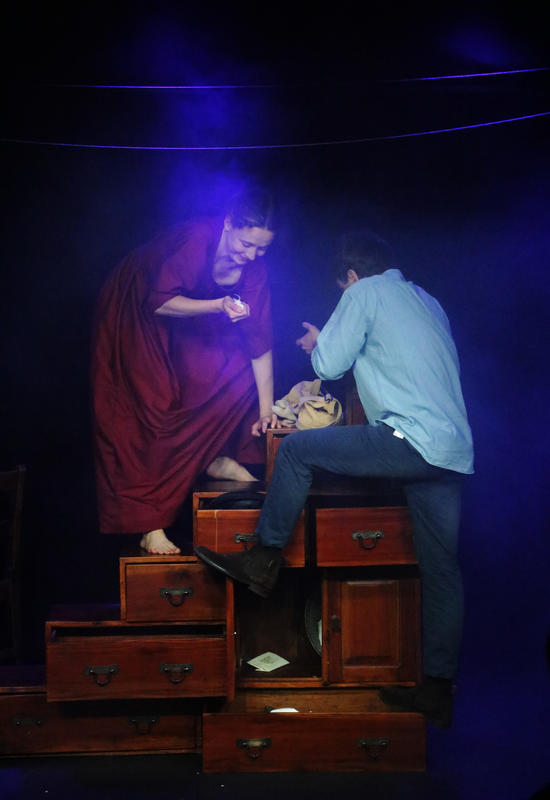 Photograph from She Sells Sea Shells - lighting design by CatjaHamilton