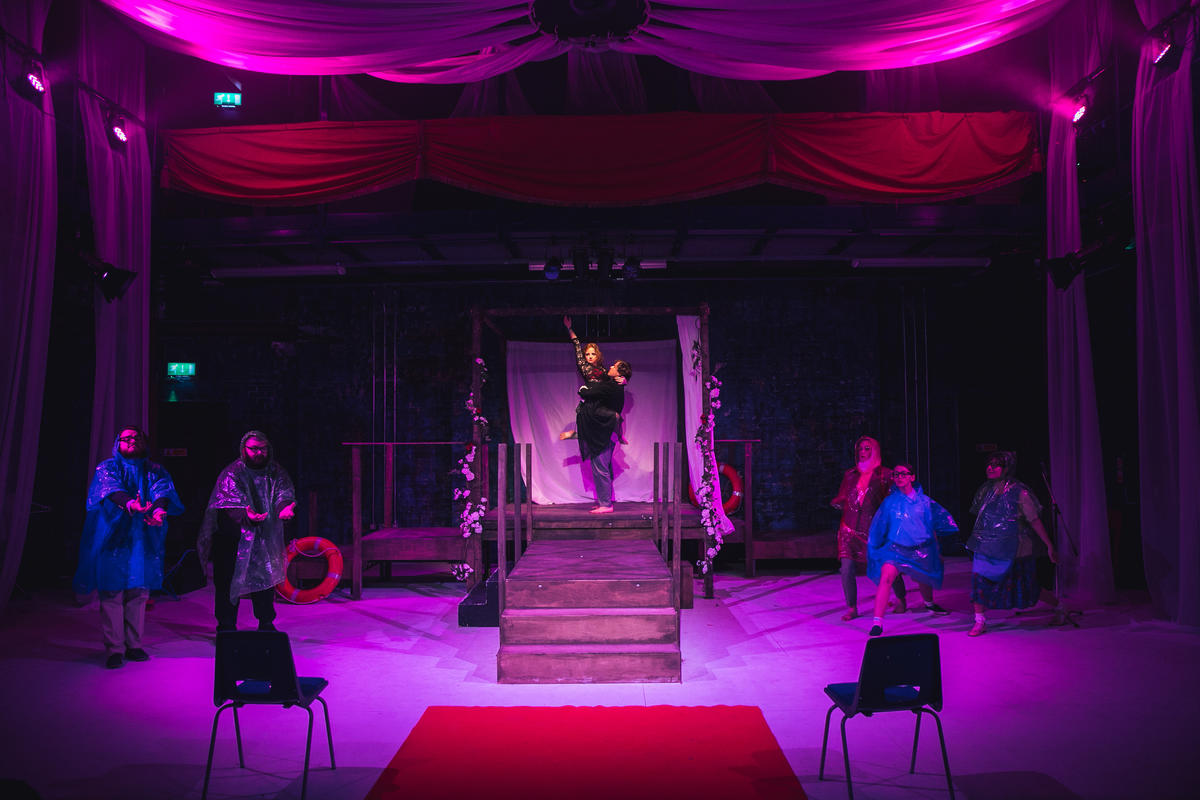 Photograph from Tristan and Yseult - lighting design by Sophie Bailey