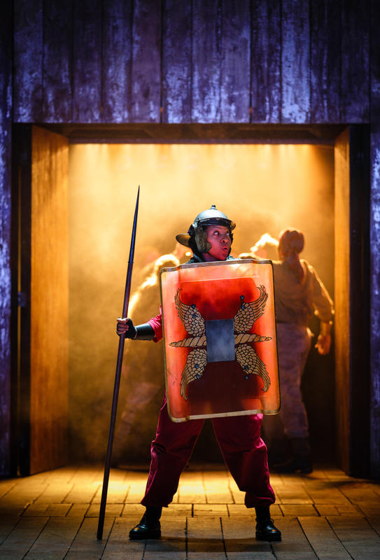 Photograph from Boudica - lighting design by Malcolm Rippeth