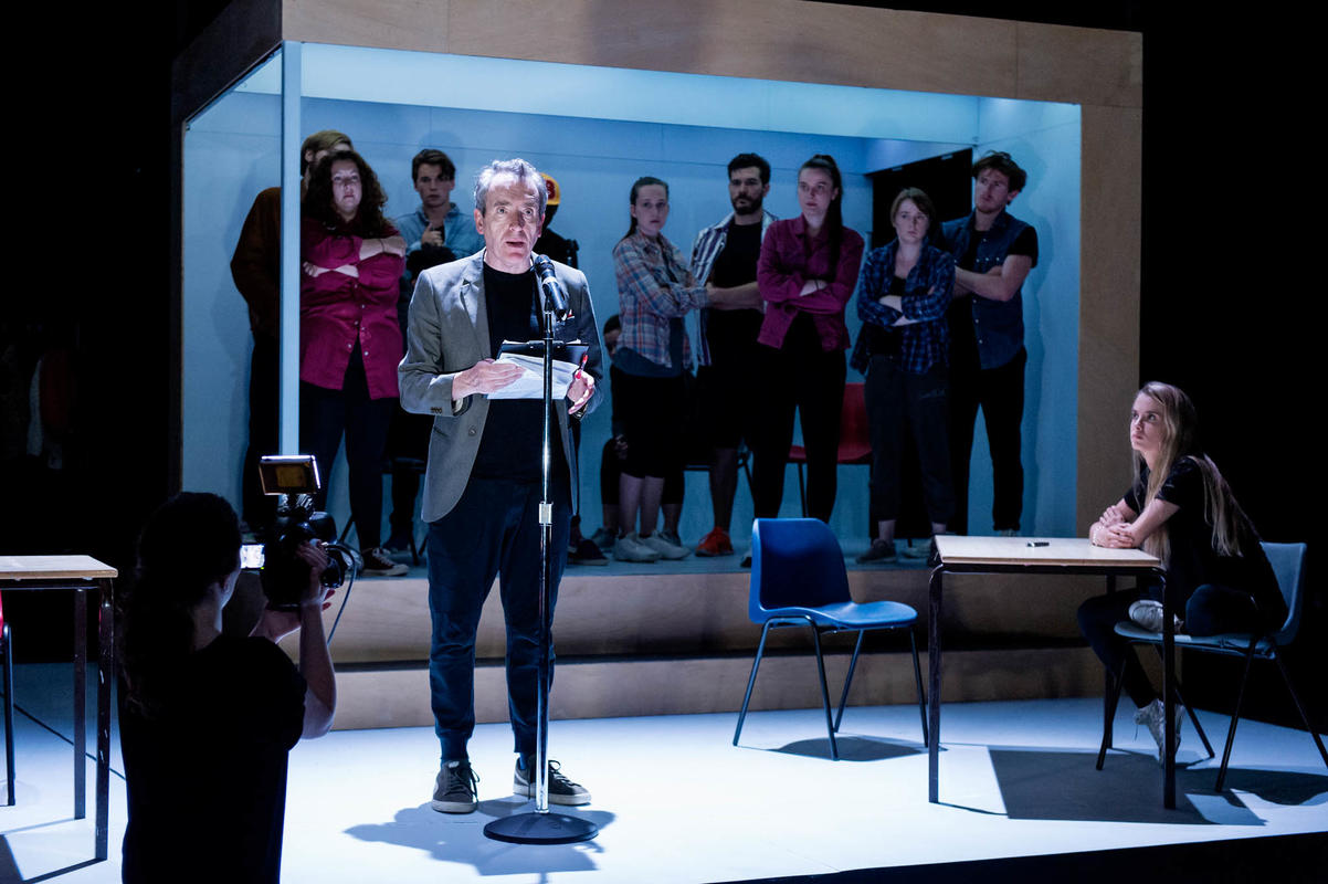 Photograph from The Laramie Project - lighting design by Joshua Gadsby