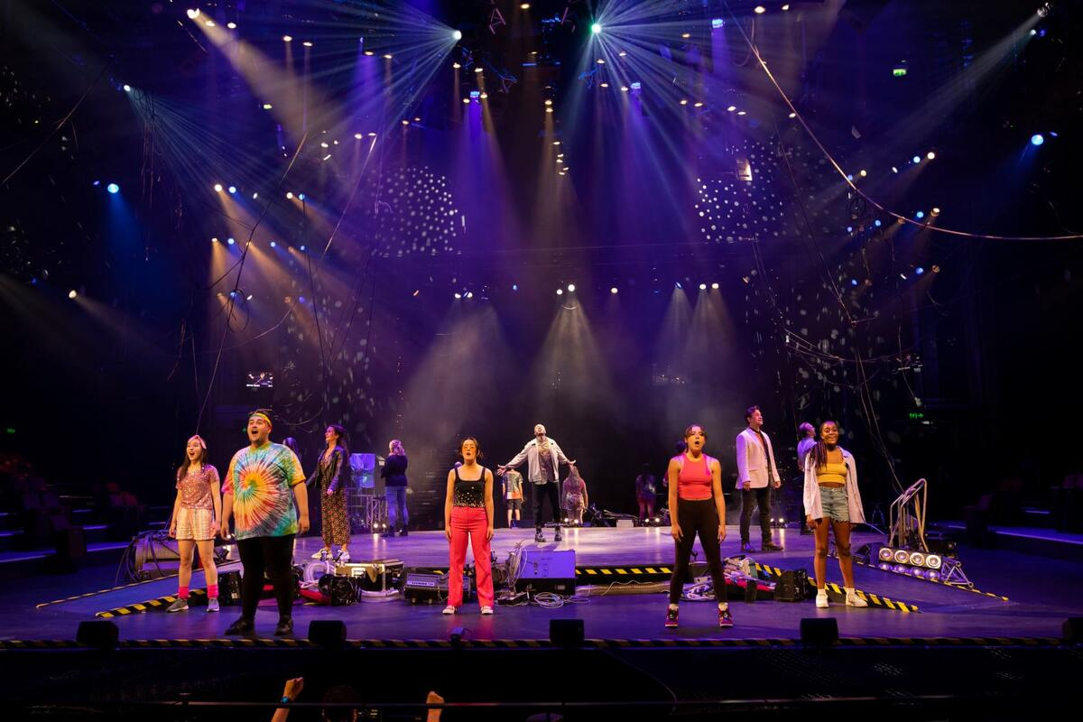 Photograph from The Music of Andrew Lloyd Webber - lighting design by NFLX-Scot