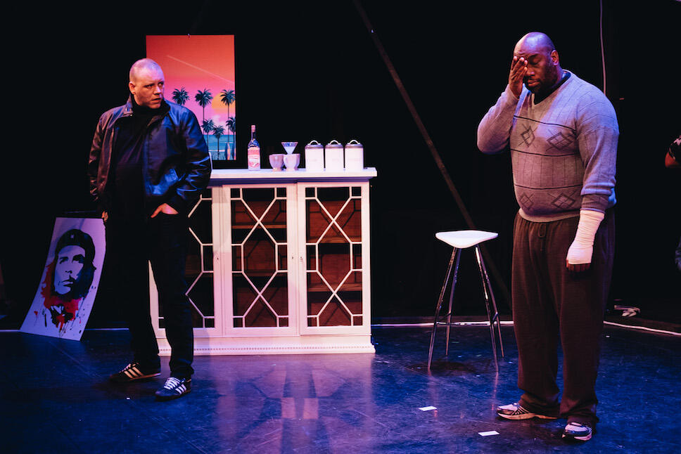 Photograph from The Sword and the Sand - lighting design by James McFetridge