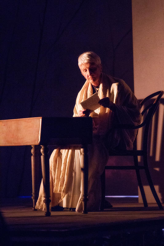 Photograph from To Freedom's Cause - lighting design by Louise Gregory