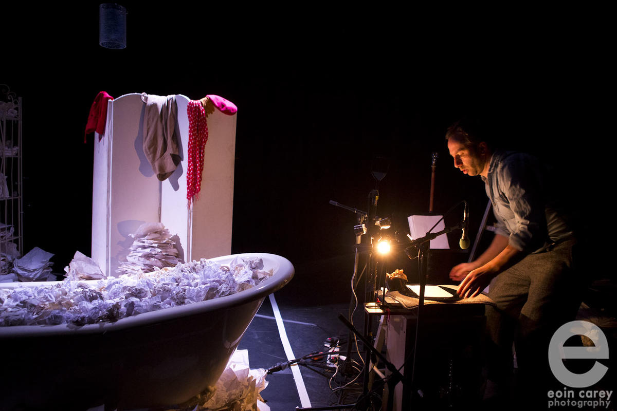 Photograph from Torn - lighting design by Laura Hawkins