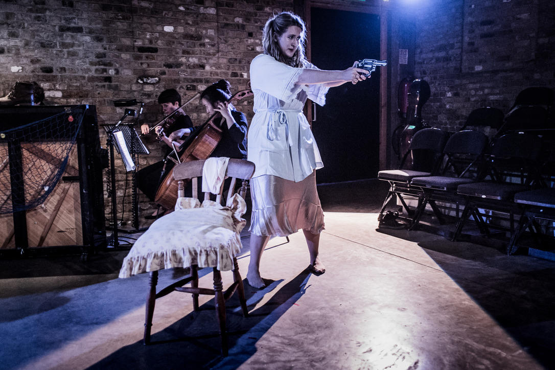 Photograph from The Boatswain's Mate - lighting design by Ali Hunter