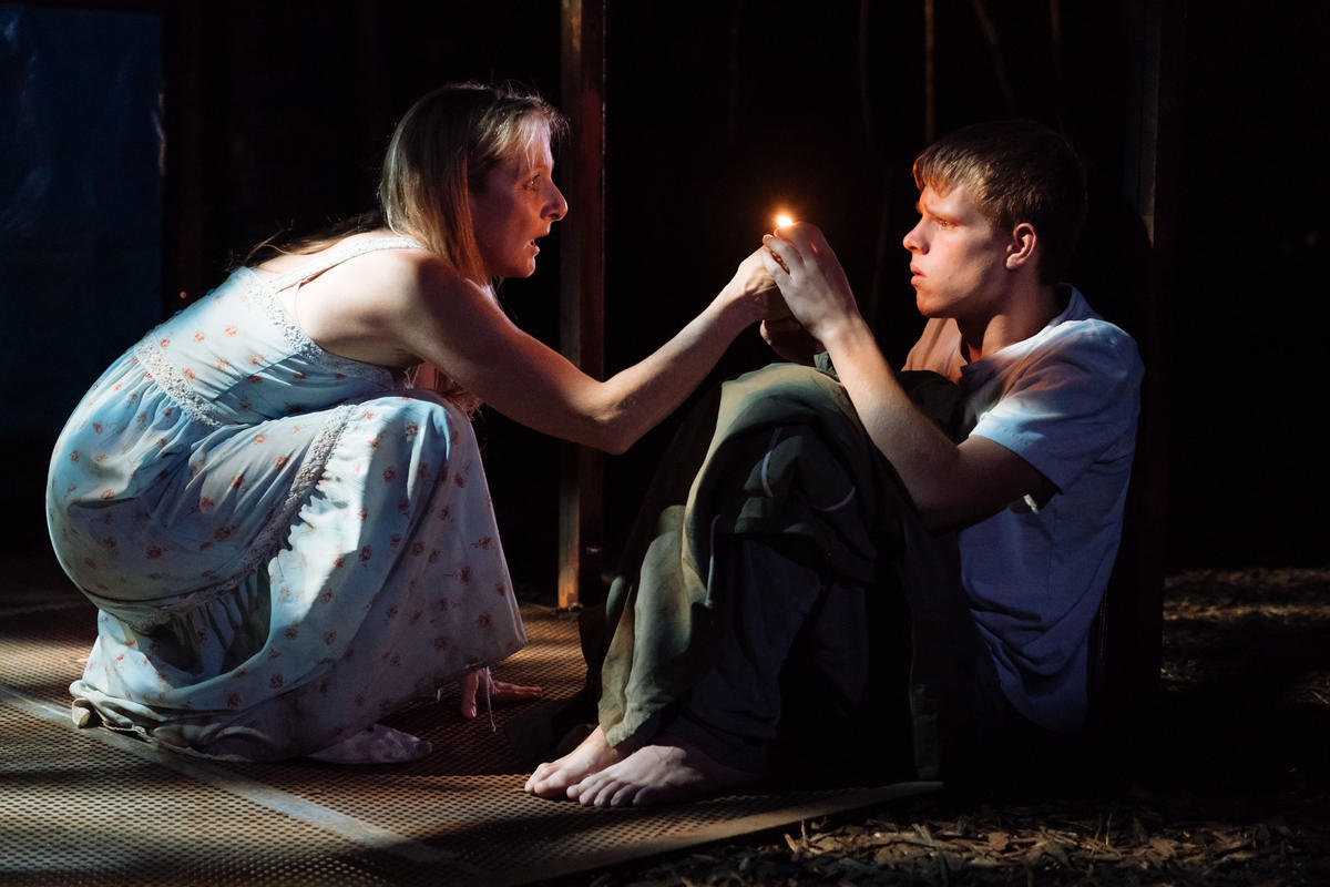 Photograph from The Woods - lighting design by Anthony Arblaster