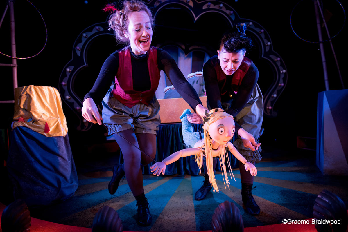 Photograph from The Singing Mermaid - lighting design by Sherry Coenen