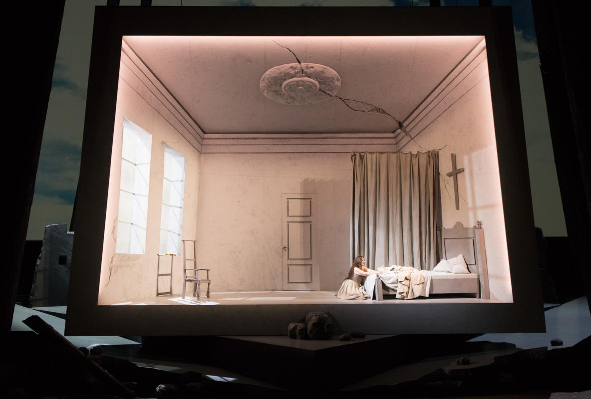 Photograph from Der Freischuetz - lighting design by Michael Grundner
