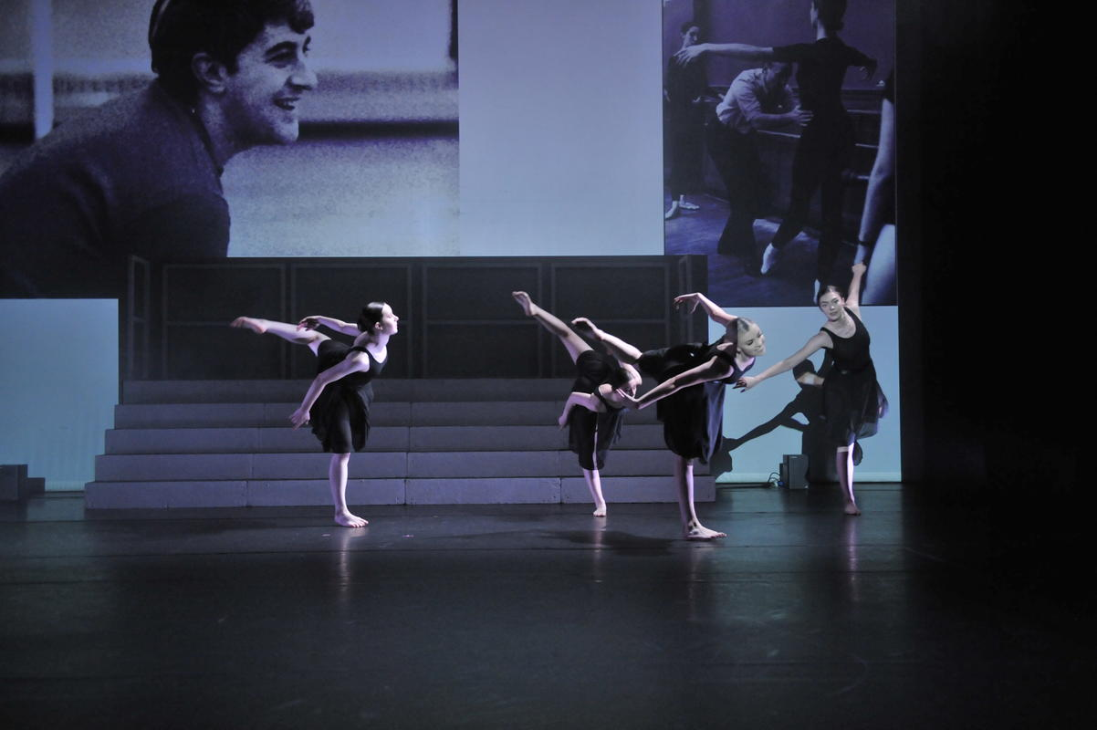 Photograph from Icons FC Dance Certificate - lighting design by Jamila