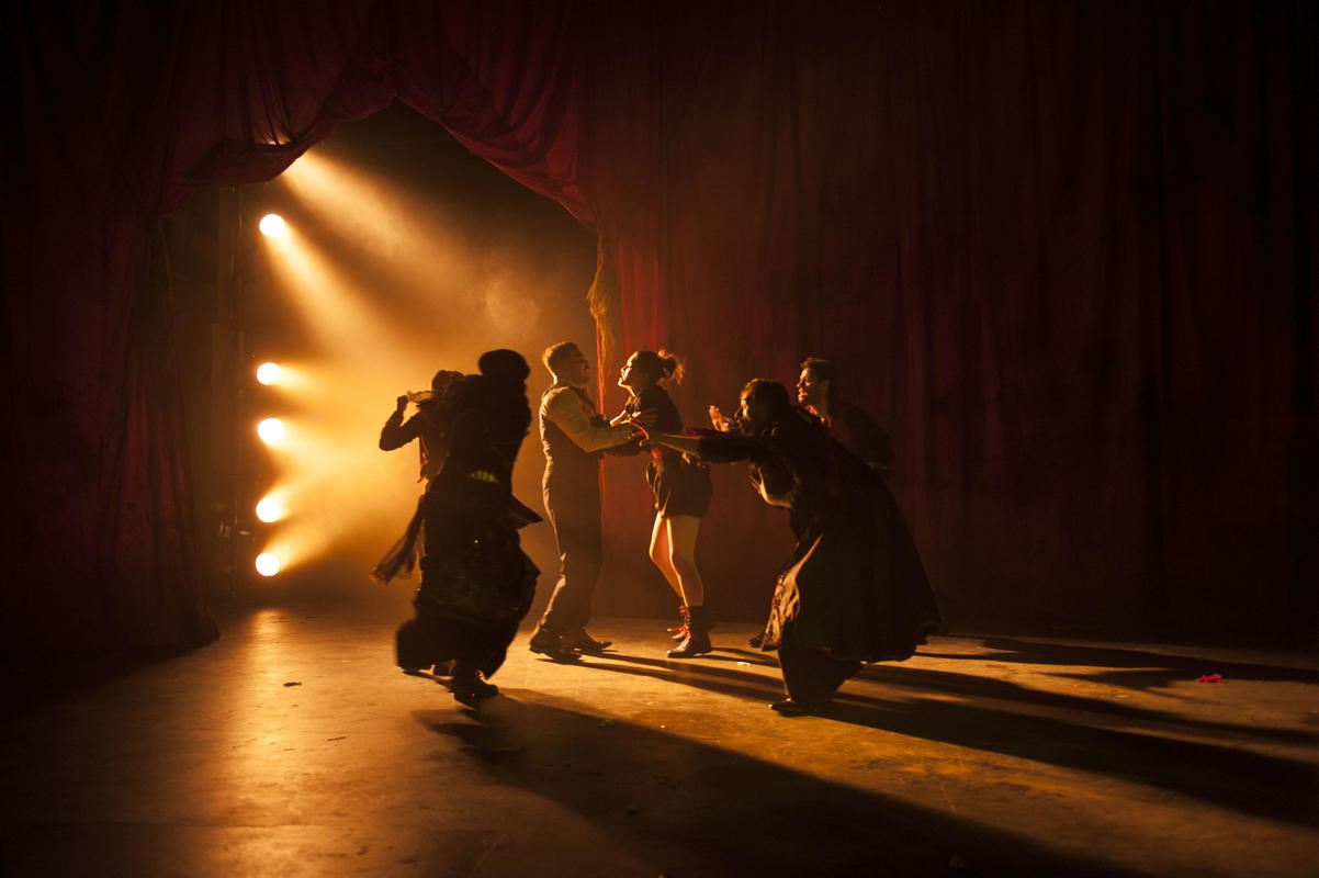Photograph from Parts 1 & 2 - lighting design by Jamila