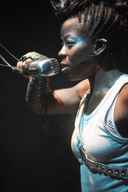 Photograph from Beowulf - lighting design by Richard Williamson
