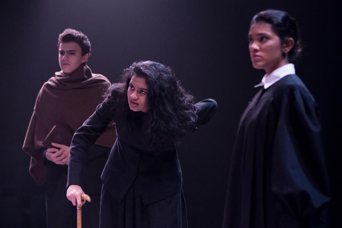Photograph from The Crucible - lighting design by Manuel Garrido Freire