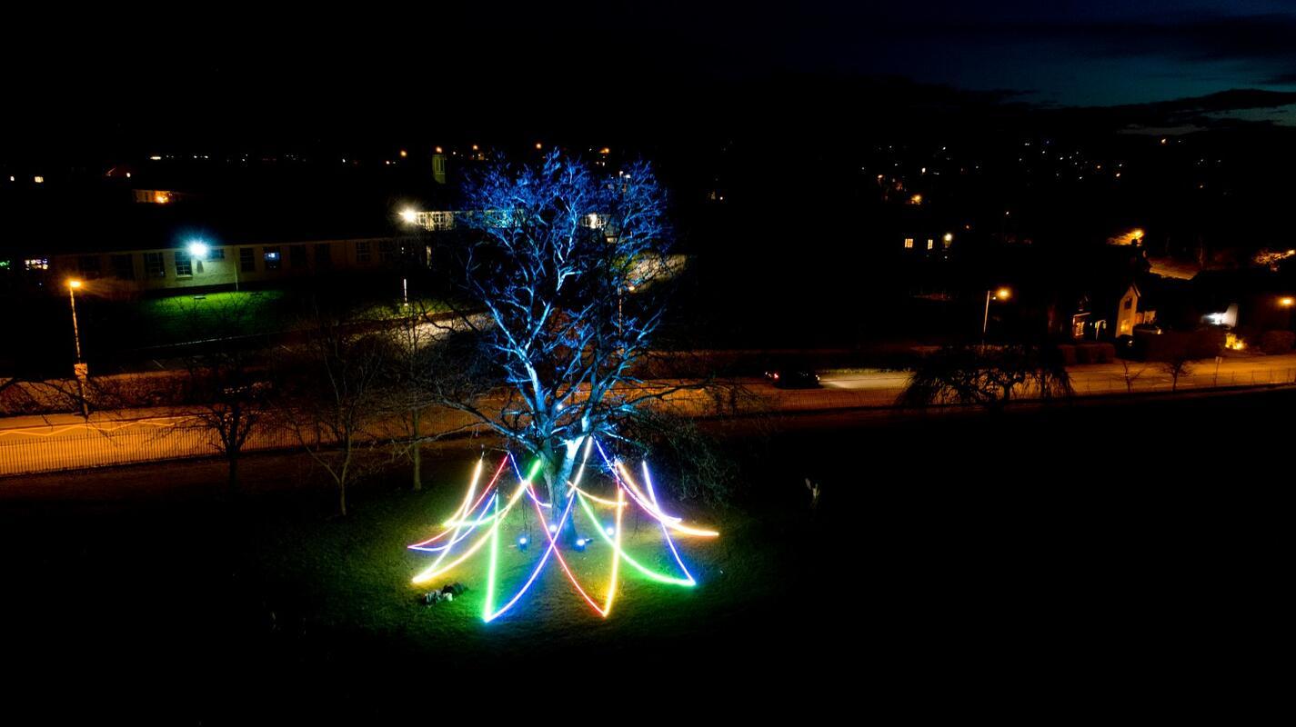 Photograph from The Litten Tree - lighting design by Daniella Beattie