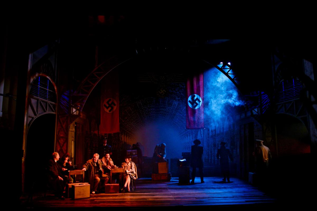 Photograph from The Lady Vanishes - lighting design by Charlie Morgan Jones