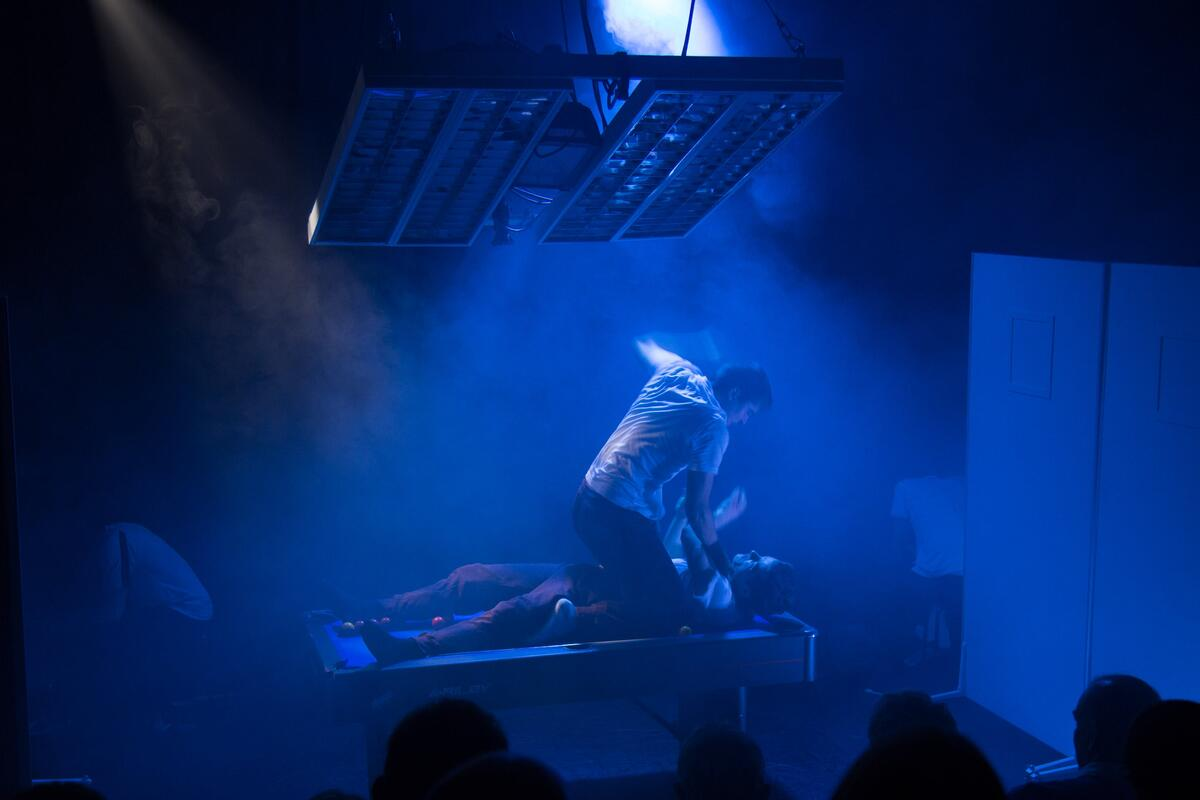 Photograph from Grey Matter - lighting design by alexforey