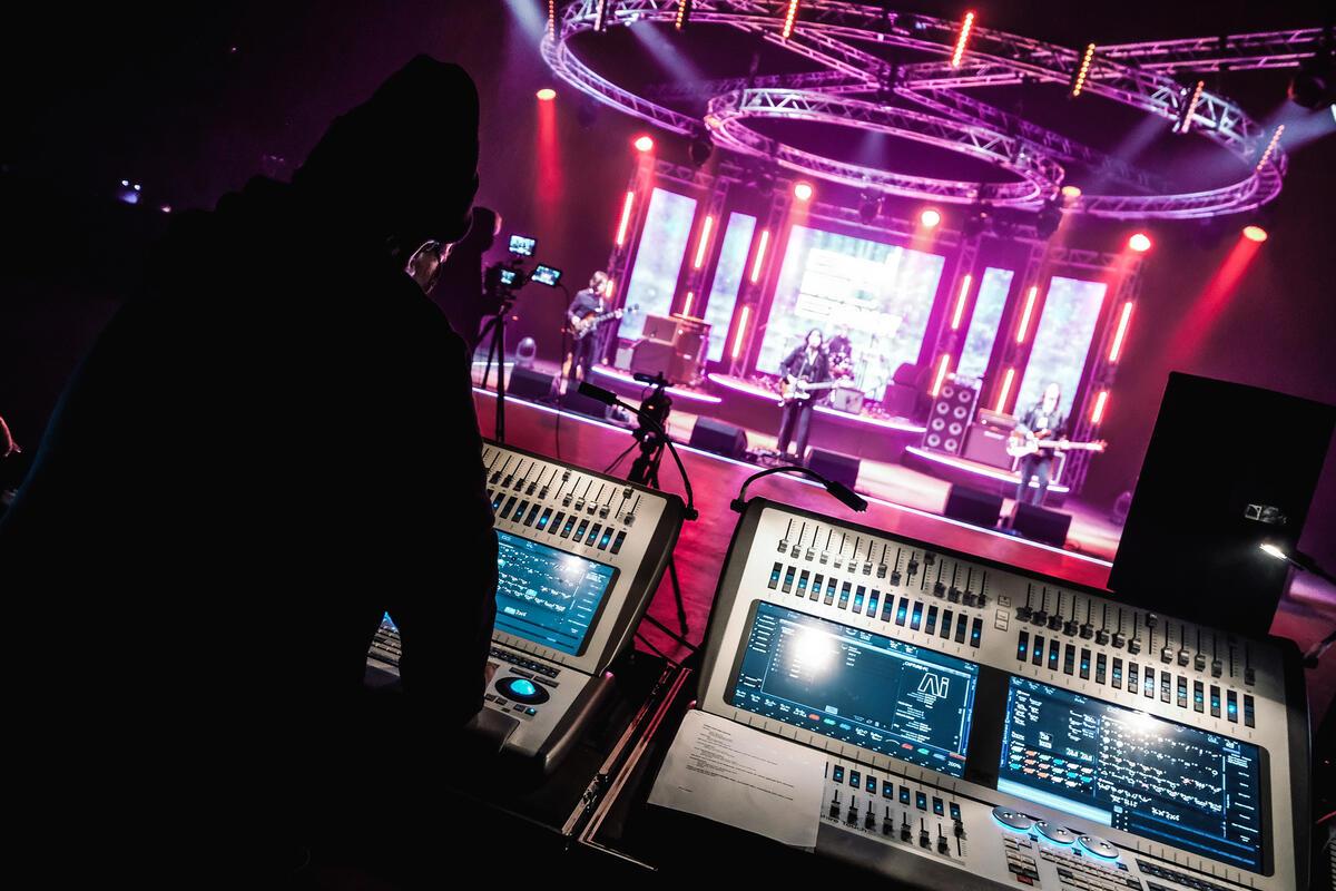 Photograph from SXSW British Music Embassy - lighting design by grahamrobertslx