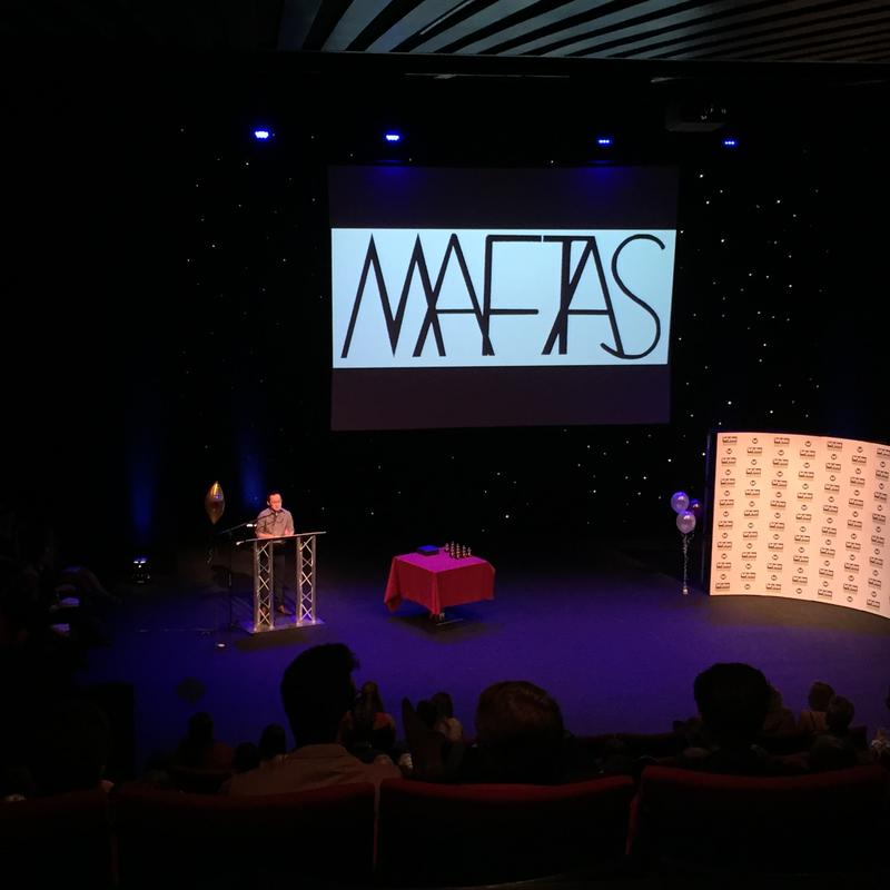 Photograph from MAFTAS - Media and Film Technology Awards - lighting design by Jason Addison