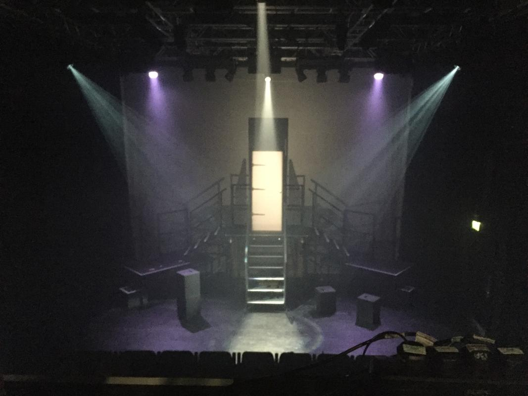 Photograph from The Castle - lighting design by Jason Addison