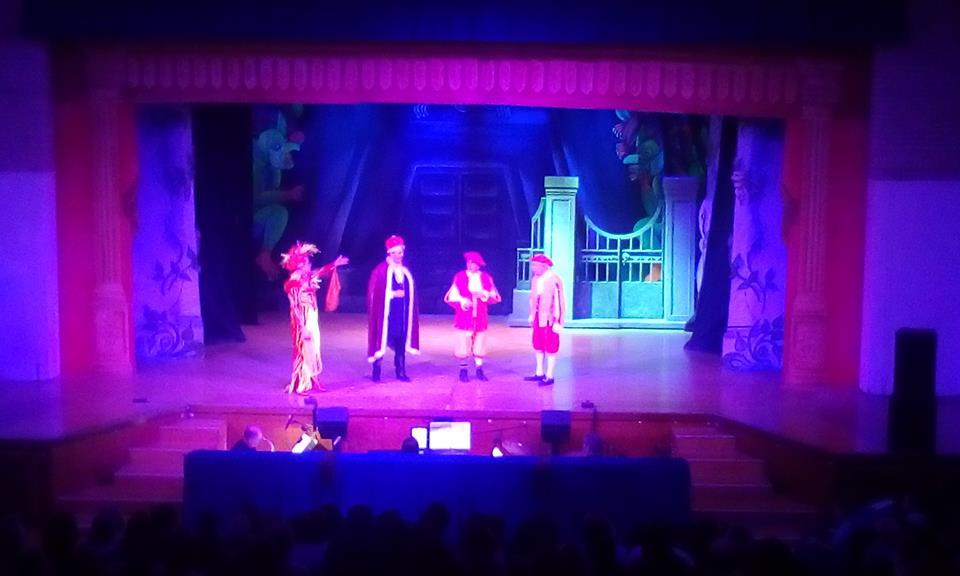Photograph from Jack & The Beanstalk - lighting design by Ben Skipworth