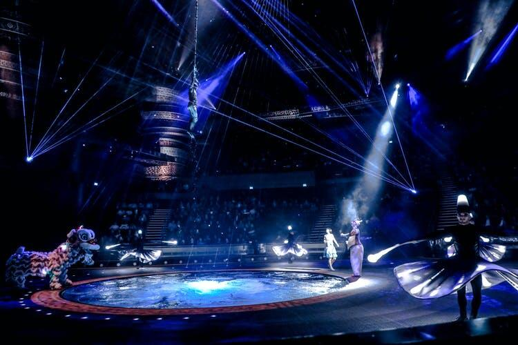 Photograph from La Perle - lighting design by Olivier Grimmeau