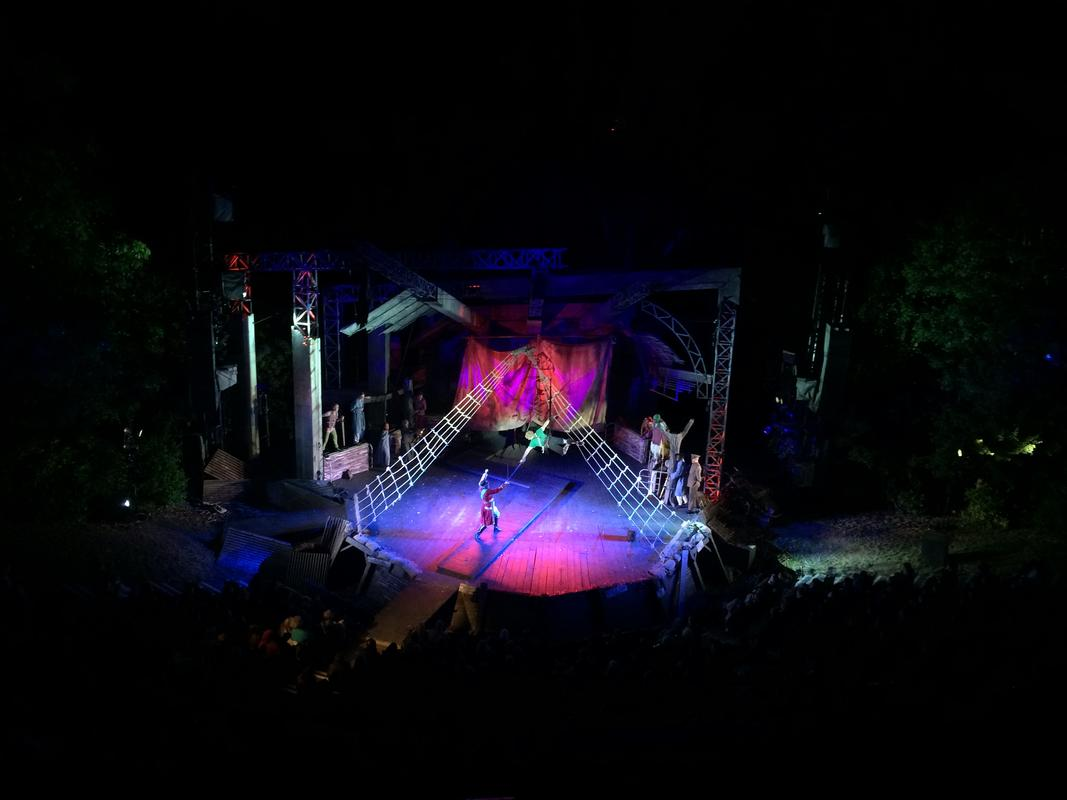 Photograph from Peter Pan - lighting design by Rick Fisher