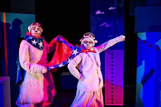 Photograph from The Polar Bears Go Up! - lighting design by Kate Bonney