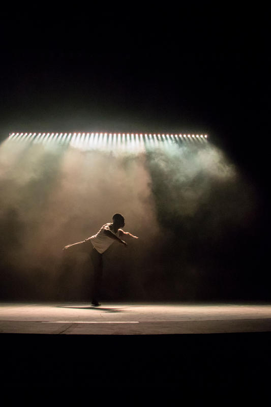Photograph from Salt (RADA & RAMBERT Dance Project) - lighting design by JacobGowler