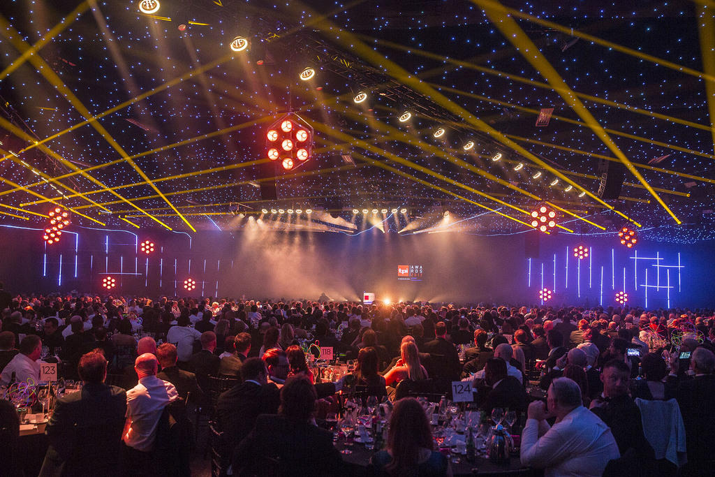 Photograph from TPi Awards 2017 - lighting design by Andy Webb