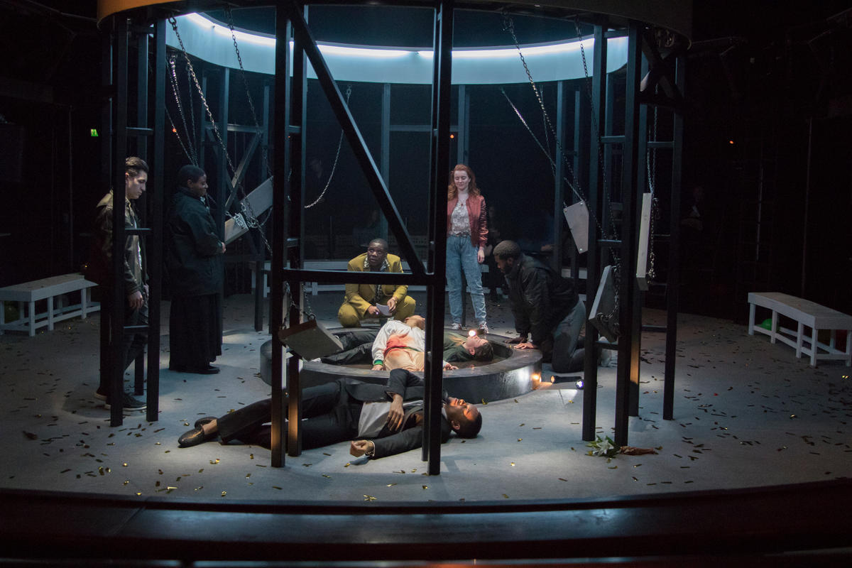 Photograph from Romeo and Juliet - lighting design by Lucia