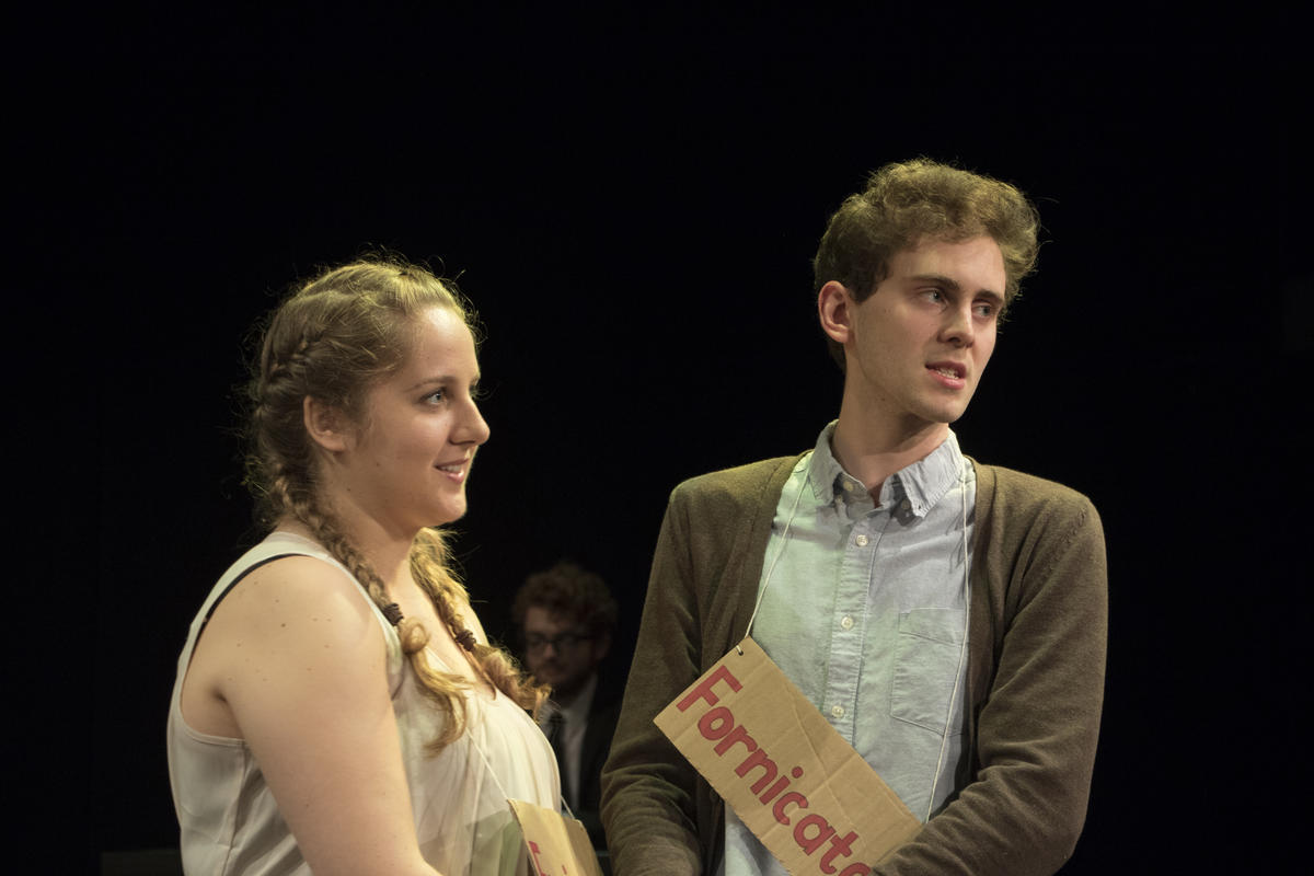 Photograph from Measure for Measure - lighting design by ejd