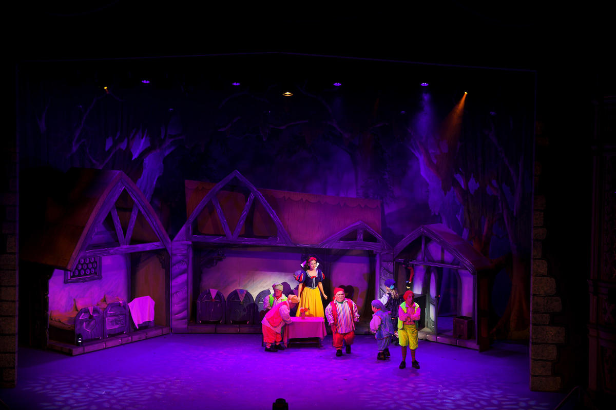 Photograph from Snow White and the Seven Dwarfs - lighting design by Andy Webb