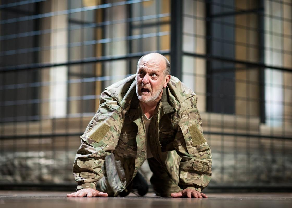 Photograph from Titus Andronicus - lighting design by Malcolm Rippeth