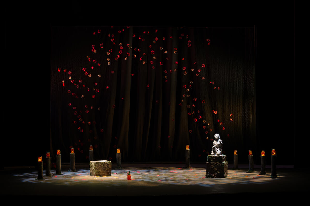 Photograph from Mary and Me - lighting design by Alan Mooney