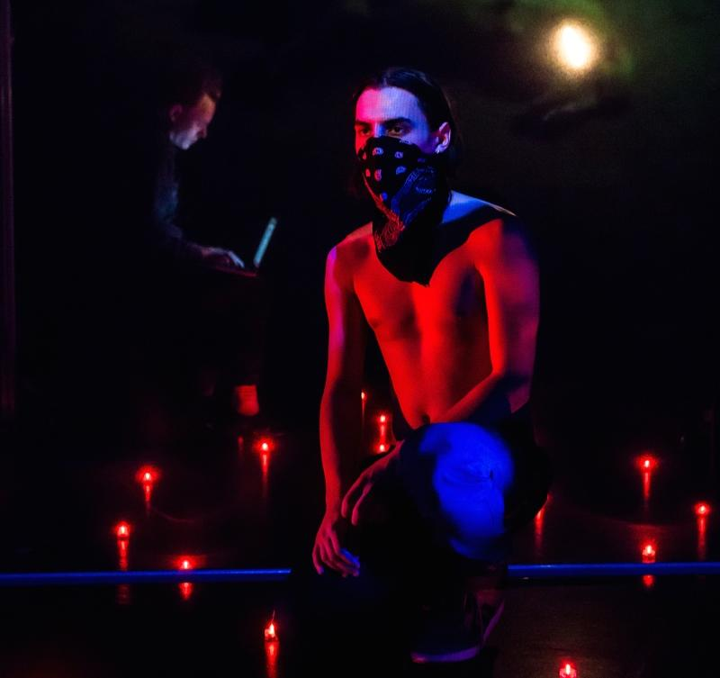 Photograph from Weaklings - lighting design by Katharine Williams