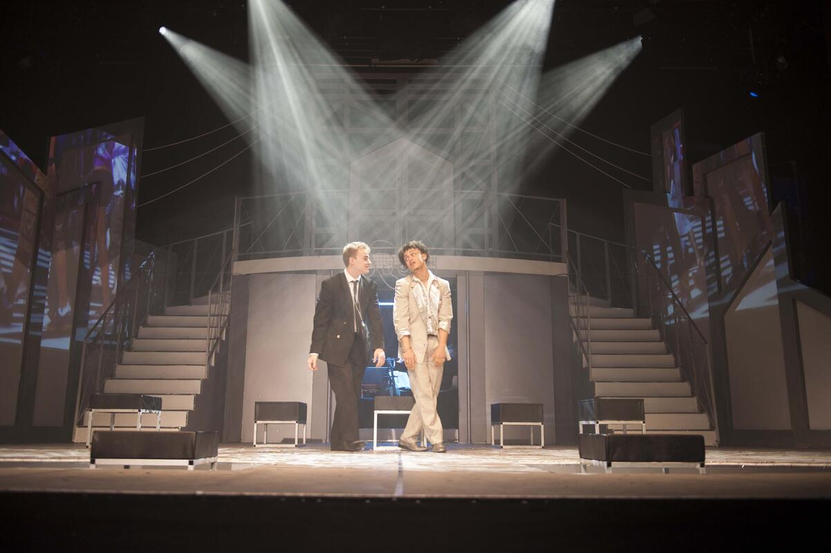 Photograph from Bright Lights, Big CIty - lighting design by Ellen Butterworth-Evans