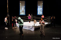 Photograph from Fighter - lighting design by Sherry Coenen