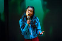 Photograph from Ode To Leeds - lighting design by Katharine Williams