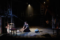 Photograph from Mad King Suibhne - lighting design by Ben Pickersgill