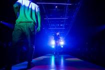 Photograph from Natives - lighting design by Zoe Spurr