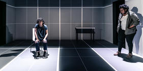 Photograph from Keep Watching - lighting design by Bethany Gupwell