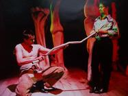 Photograph from The Ugly Man - lighting design by Marty Langthorne