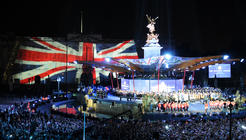 Photograph from Diamond Jubilee Concert - lighting design by Durham Marenghi