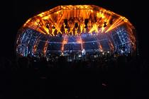Photograph from Clumber Concerts, Alfie Boe - lighting design by Pete Watts